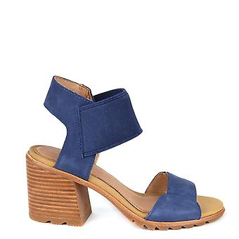 Sorel Nadia Blue Heeled Sandal