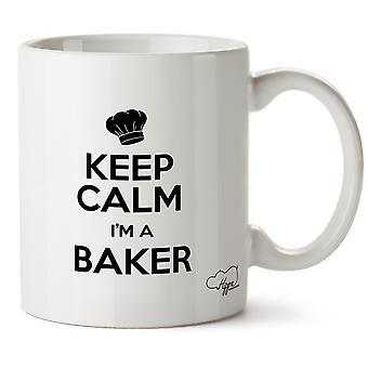 Hippowarehouse houden rust ik ben een bakker afgedrukt mok Cup keramiek 10oz