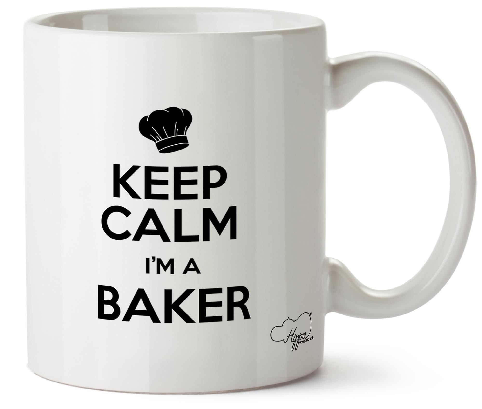 Hippowarehouse Keep Calm I'm A Baker Printed Mug Cup Ceramic 10oz