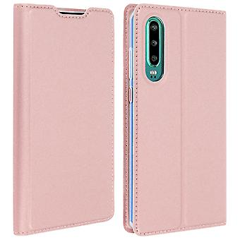 Case for Huawei P30 Case Cards-holder Satnd Function Dux Ducis rose gold