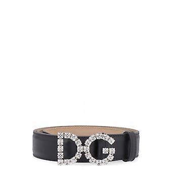 Dolce E Gabbana Be1311au32580999 Feminino's Cinto de Couro Preto