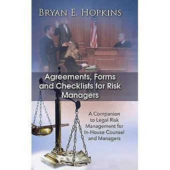 Avtaler Skjemaer og sjekklister for risikoledere av Bryan E. Hopkins