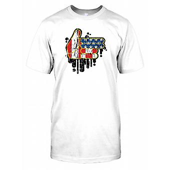 USA Pistol pistol hånd - kult Design Mens T-skjorte