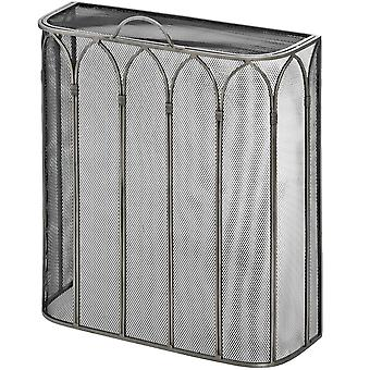 Hill Interiors Gothic Antique Pewter Mesh Fireplace Screen