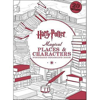 Harry Potter Magical Places & Characters Postcard Coloring Book by Sc