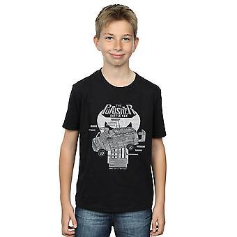 Marvel Boys The Punisher Battle Van Breakdown T-Shirt