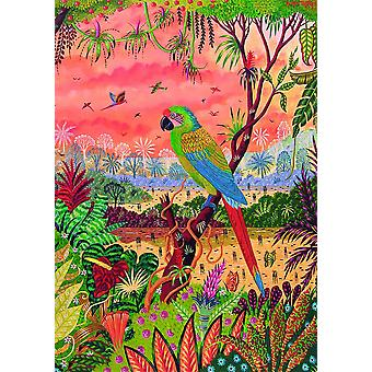 Piatnik Great Green Macaw Jigsaw Puzzle (1000 Pieces)