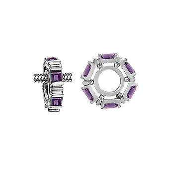 Storywheels Silver & Amethyst Wheel Charm S024A
