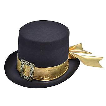 Bristol Novelty Unisex Top Hat With Ribbon Belt