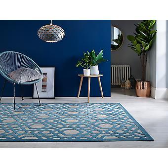 PIATTO Oro Blue Rectangle Rugs Plaine /Presque Plaine Rugs