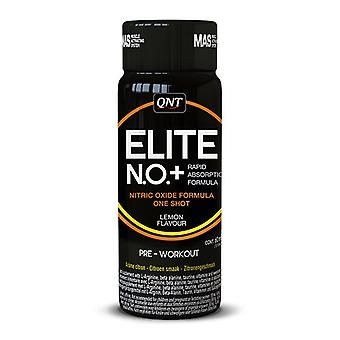 QNT No + Elite shot kväveoxid pre-workout muskeltillväxt (citron)-12 x 60ml