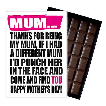 Funny Mother's Day Gift Boxed Chocolate Present Rude Greeting Card For Mom Mum Mumy MIYF142