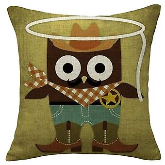 Wellindal Holy Owl Cushion Cover Cotton (Decoration , Cushions , Cushions)