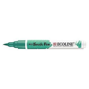 Talens Ecoline Liquid Watercolour Brush Pen - 602 Deep Green