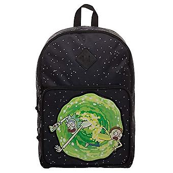 BIOWORLD MERCHANDISING Sac dos officiel Rick & Morty - Casual Backpack Portal - 43 cm - Black (Noir)