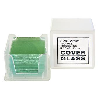 BRESSER Cover Glasses 22 x 22 mm 100 pcs