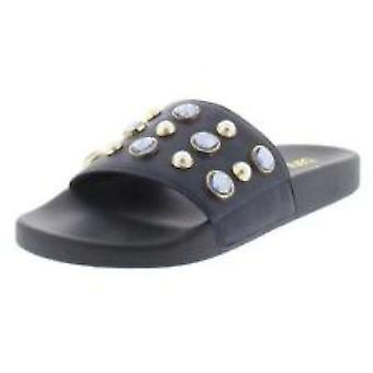 Bar III Womens Sara Fabric Open Toe Casual Slide Sandals