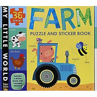 Farm Puzzle and Sticker Book Set (My Little World)