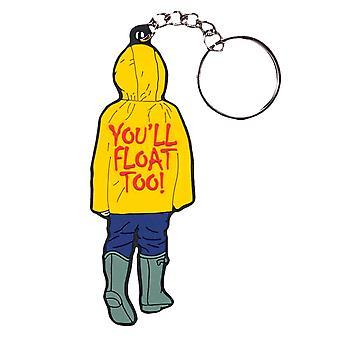 """Det (2017) Georgie """"du ' ll flyta också!"""" PVC-nyckelring"""