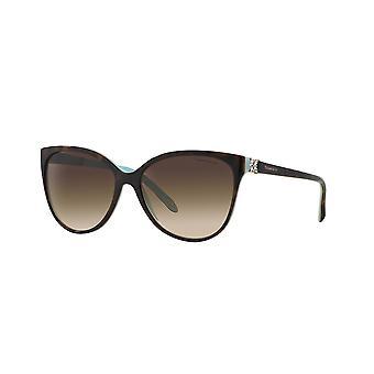 Tiffany Victoria TF4089B 8134/3B Havana-Blue/ Brown Gradient Sunglasses