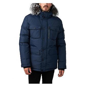 Pajar Wilson Parka Real Fur Trim Hood Navy