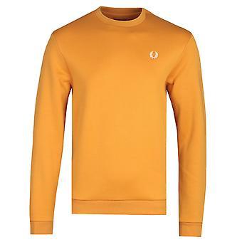 Fred Perry Laurel Wreath logo guld gul sweatshirt