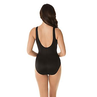 Miraclesuit 6523630-MLT Women's Genesis Temptress Black Multicolour Floral Shaping Swimsuit
