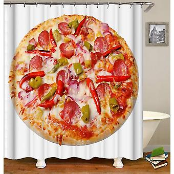 Spicy Pepperoni Pizza Shower Curtain