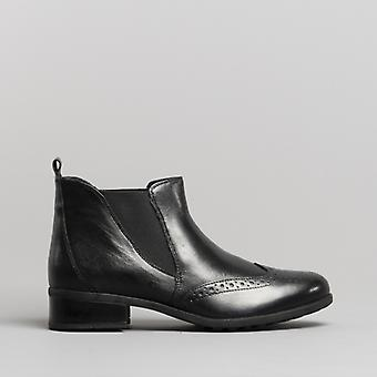 Comfort Plus Chelsea Ladies Leather Ankle Boots Black