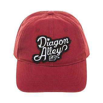 Harry Potter Baseball Cap Diagon Alley Wash Logo new Official Red Strapback