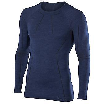 Chemise à manches longues laine Falke Tech - nuit noire marine