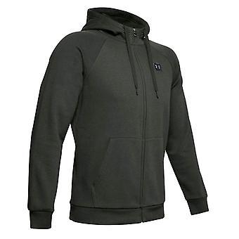 Under Armour Rival Fleece Full Zip Mens Hoodie Jacket Baroque Green