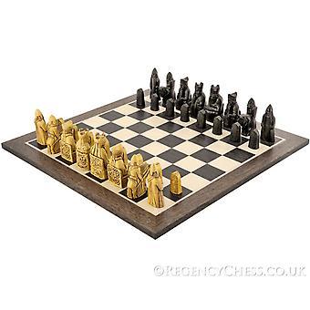 Isle Of Lewis europäischen Wenge-Schach-Satz