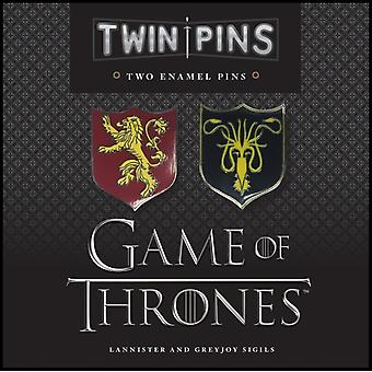 Game of Thrones Twin Pins Lannister and Greyjoy Sigils