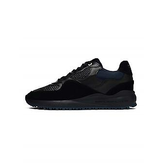 Android Homme  Android Homme Santa Monica Black & Navy Leather Sneaker