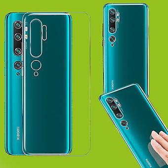 För Xiaomi Mi NOTE 10/Obs 10 Pro silikonfodral TPU skyddande transparent fodral täcka Case Tillbehör ny