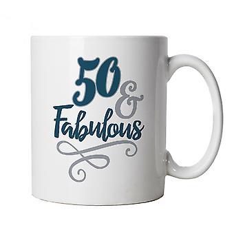 50 And Fabulous Mug | Happy Birthday Celebration Party Getting Older | Age Related Year Birthday Novelty Gift Present | Birthday Celebration Cup Gift