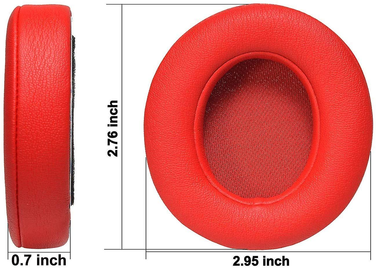 REYTID Replacement Red Ear Pad Cushion Kit Compatible with Beats By Dr. Dre Solo2 & Solo2 Wireless Headphones
