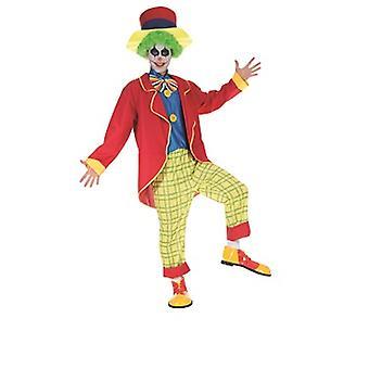 Crazy clown jester mens costume