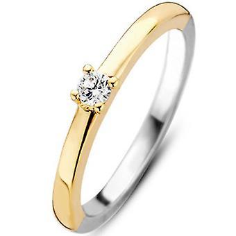 Ring Ti Sento 1871ZY - Silver Steel Ring e Dor e Women