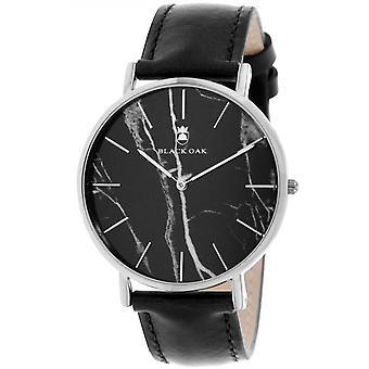 Montre Black Oak BX97031-203 - Cuir Noir Boitier Acier Argent� Cadran Noir Homme