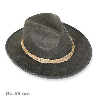Muts met snoer grijs mens Hat Fedora