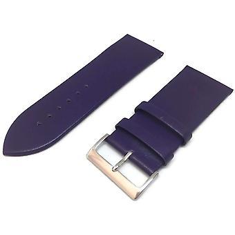 ربلة الساق حزام ساعة جلدية حيوية الأرجواني مع حجم مشبك الكروم 12mm إلى 30mm