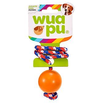 Wuapu 5 cm rubber ball with rope (Dogs , Toys & Sport , Ropes)
