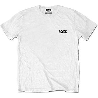 Hvid AC / DC for dem om at rock backprint officielle T-shirt Unisex