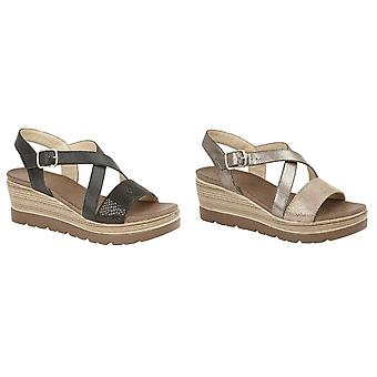 Cipriata Womens/dames Clarice Crossover Buckle Wedge chaussures occasionnelles