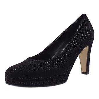 غابور الرائعة الحديثة أحذية المحكمة عالية الكعب في النقطة السوداء