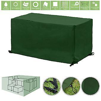 Protector de la cubierta de la cubierta de los muebles al aire libre resistenteales al agua verde para el juego de comedor del jardín de 6 plazas