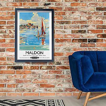Maldon Essex British Railways Poster Print Giclee