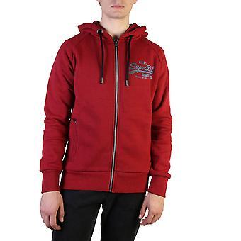 Superdry Original Herren Herbst/Winter Sweatshirt - rote Farbe 37789
